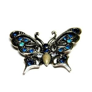 Butterfly Pin Mixed Colors Rhinestone